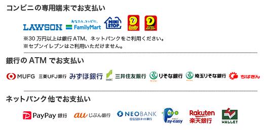 コンビニ(番号端末式)・銀行ATM・ネットバンキング決済の画像